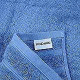 PROMIC 100% Quality Cotton Bath Towel Set, 6 Piece