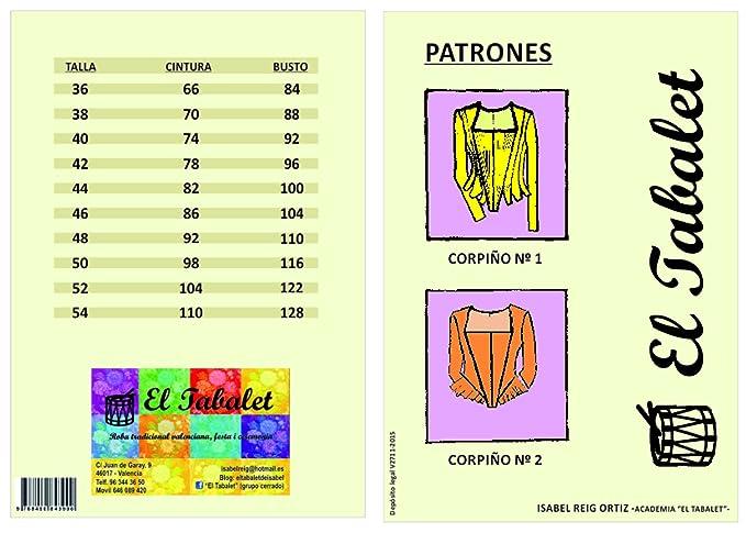 Desconocido PATRONES CORPIÑO FALLERA