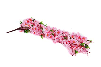 Buy Pindia Artificial Hanging Flower Bunch Wall Décor Plant, Lily ...