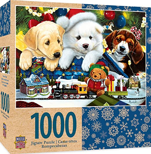 Amazon.com: MasterPieces Holiday Toyland Pups 1000 Piece Puzzle: Toys & Games
