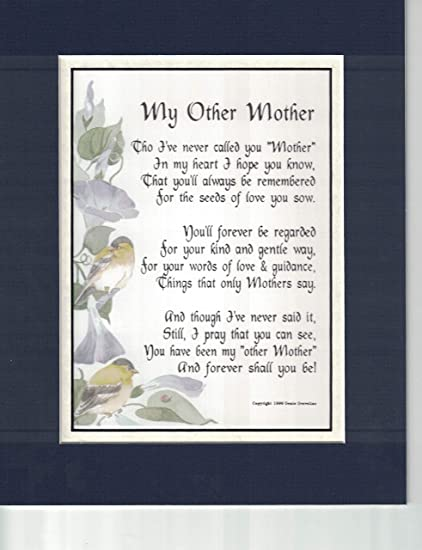 Genie's Poems My Other Mother, A Poem Birthday Present for A Mother-in-Law,  Or Someone Who is Like A Mother to Me #11
