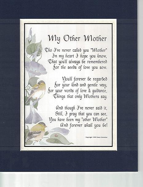 Mi otra madre, # 11, un poema de regalo o 50th 60th 65th ...