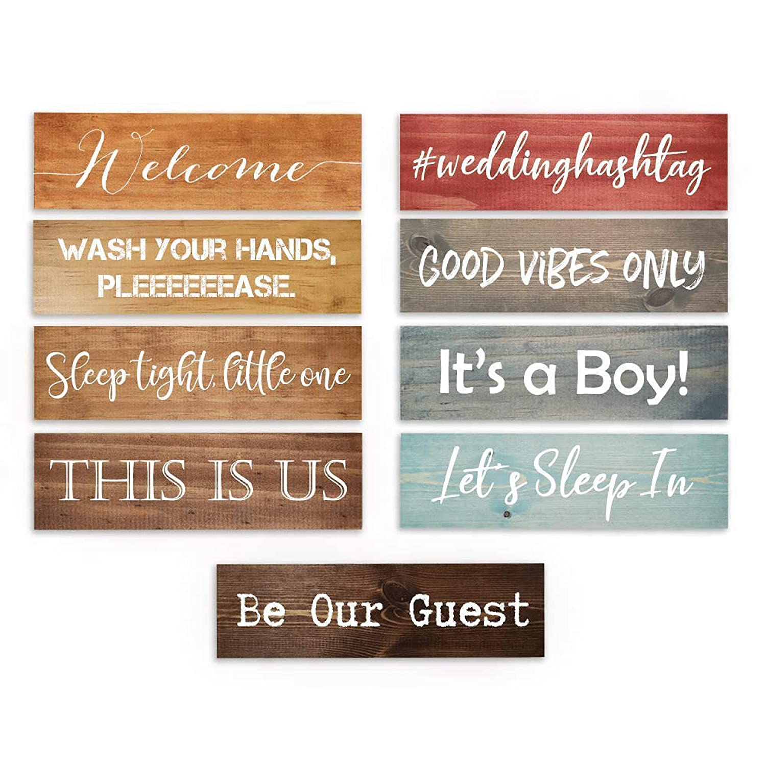 Custom Wood Signs Personalized | Farmhouse Decor | Personalized Signs | Personalized Rustic Wood Signs | Custom Sign | Great Custom Gift for Him or Her | Ready to Hang!