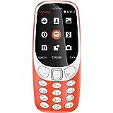 """Nokia 3310 - Móvil Libre (Pantalla de 2.4"""", batería en Stand-by hasta 1 Mes, cámara 2MP con Flash LED), Color Rojo"""
