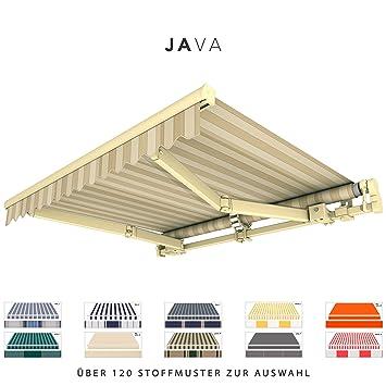 Amazon De Broxsun Gelenkarmmarkise Java Breite 2 1 Bis 7m