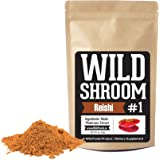 Reishi Mushroom Extract Powder 10:1 by Wild Foods | Fruiting Bodies, Vegan, Paleo, All-Natural Adaptogenic Immune Function, Sleep Aid, Nootropic (4 ounce)