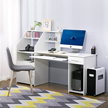 Harperu0026Bright Designs Home Office Desks Multi Functions Computer Desk With  Cabinet