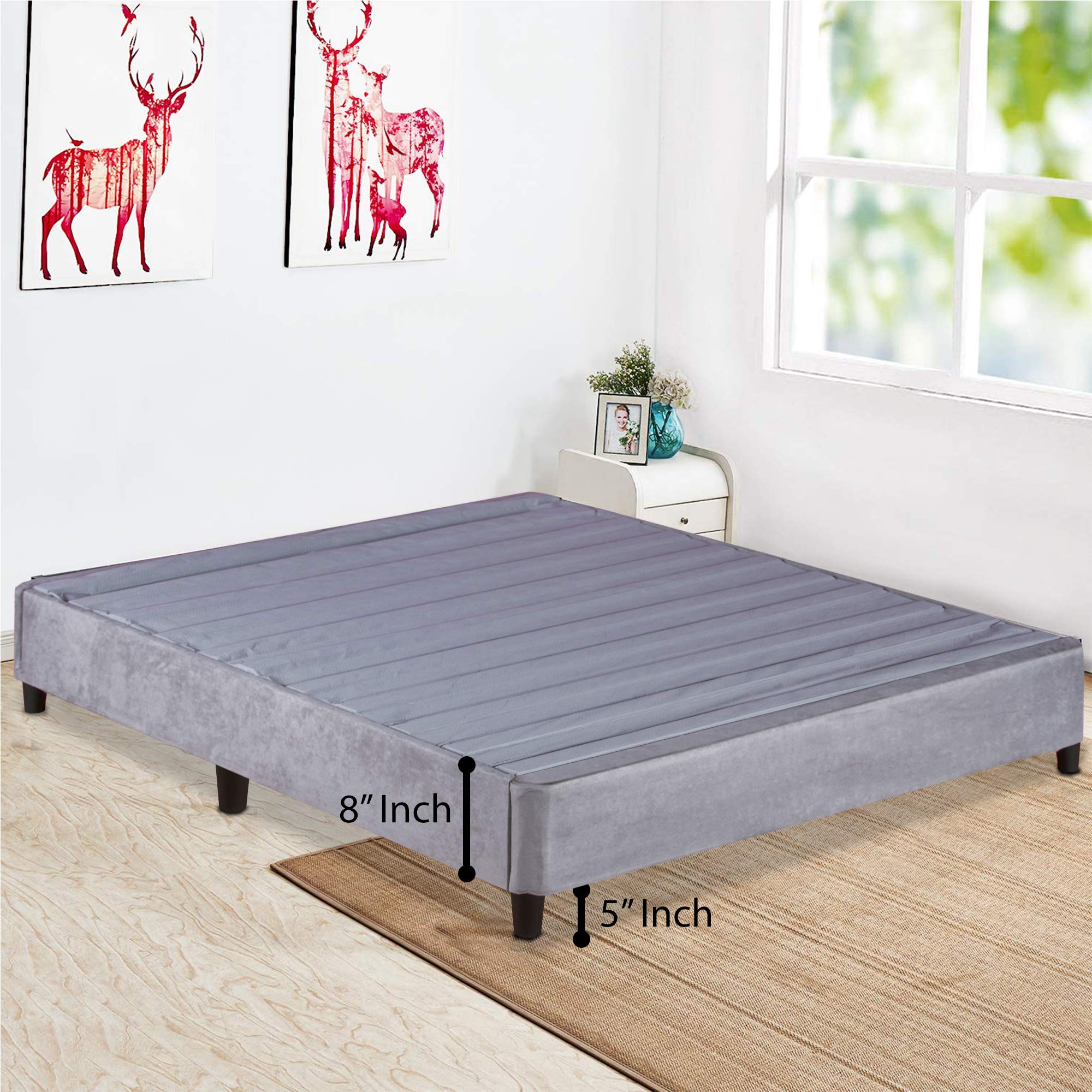 Spring Solution, Platform Bed For Mattress, Eliminates Need Of Box Spring and Bed Frame, Queen size by Spring Solution