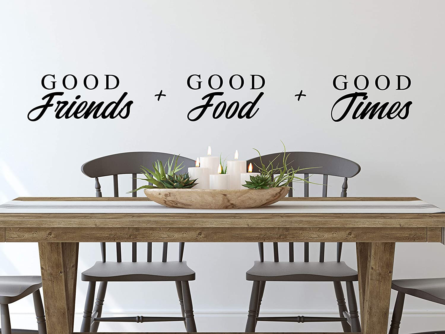 Story of Home LLC Good Friends Good Food Good Times Wall Decal Kitchen Wall Decal Kitchen Vinyl Wall Decal Kitchen Wall Sticker Dining Room Wall Decal
