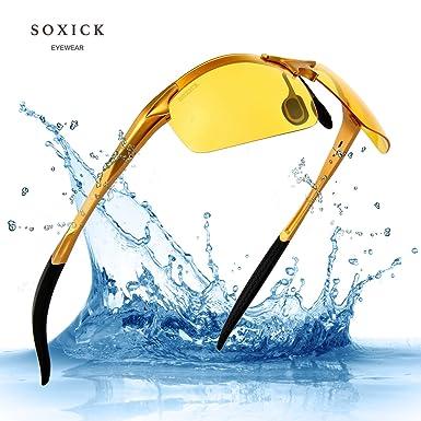 Soxick HD Gafas de conducción nocturna polarizadas gafas de sol para visión nocturna seguridad de conducción
