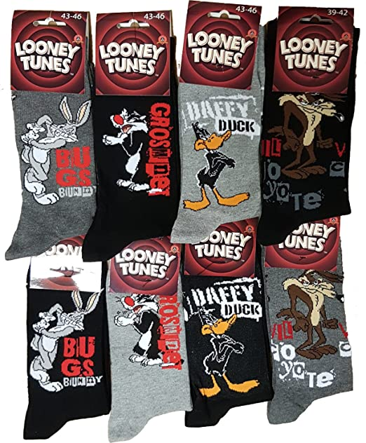 Looney Tunes - Medias de fútbol - para hombre Multicolor Pack de 6 asst 1