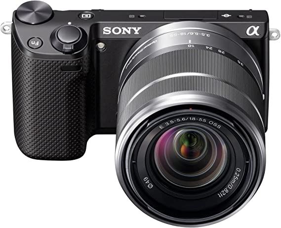 Amazon Com Sony Nex 5rk B 16 1 Mp Mirrorless Digital Camera With 18 55mm Lenses Black Compact System Camera Bundles Camera Photo