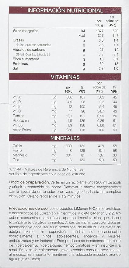 BIMANAN Pro crema chocolate 6 unidades: Amazon.es: Salud y cuidado personal