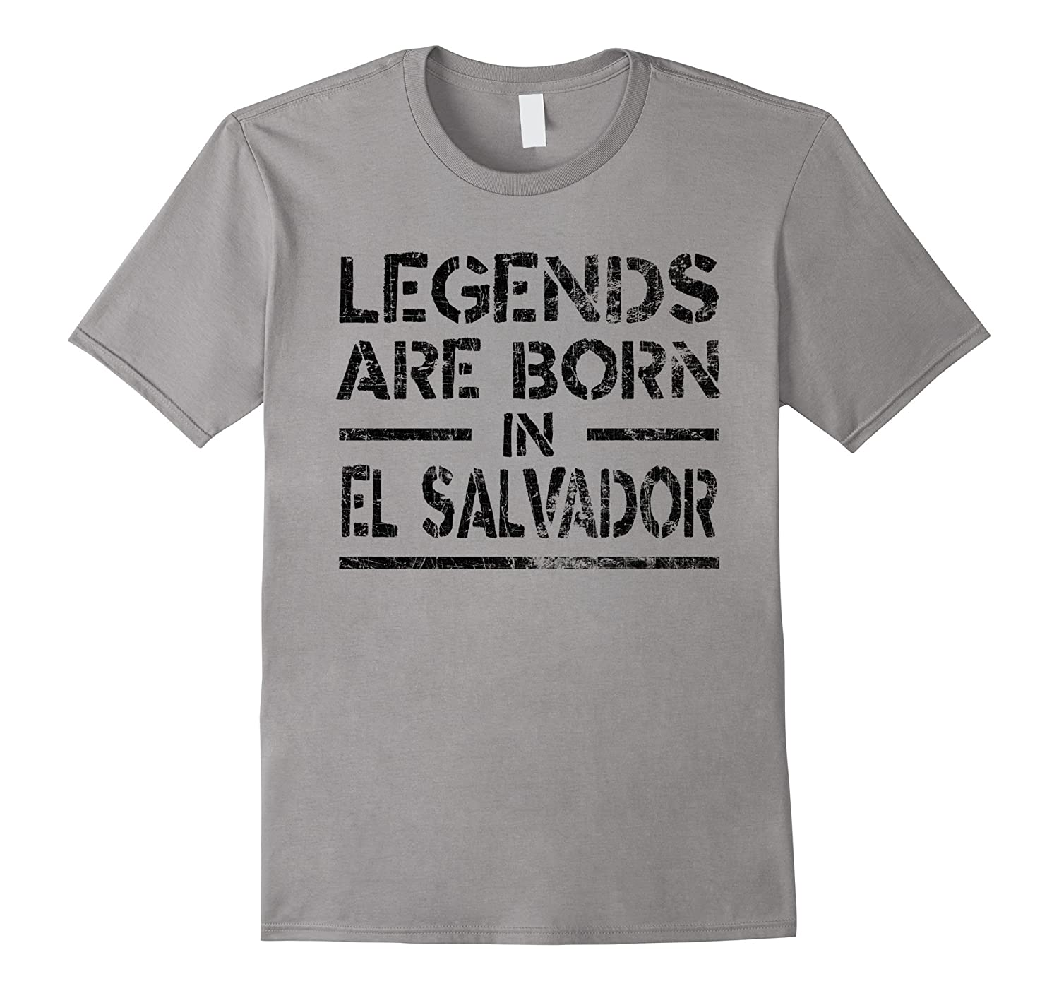 Legends Are Born In El Salvador T-Shirt Retro Distressed-Vaci