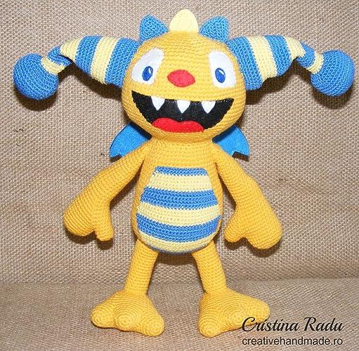 Juguete de ganchillo amigurumi Henry Hugglemonster, personaje de Disney, monstruo de peluches
