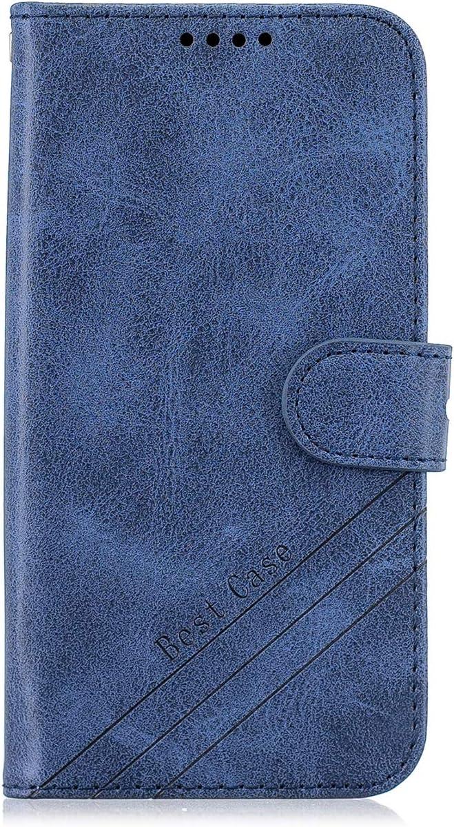 HICYCT Funda Xiaomi Redmi Note 9S /Note 9 Pro,PU Cubierta de la Cartera de Cuero Carcasa Flip Cover Case para Xiaomi Redmi Note 9 Pro MAX Caso Caja con Cierre Magnético y Función de Suporte - Azul