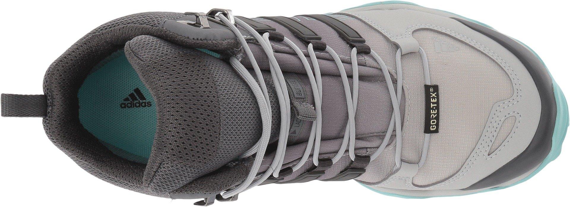 adidas Terrex Swift R Mid GTX Boot Women's Hiking 11 Grey-Utility Black-Clear Aqua by adidas (Image #2)