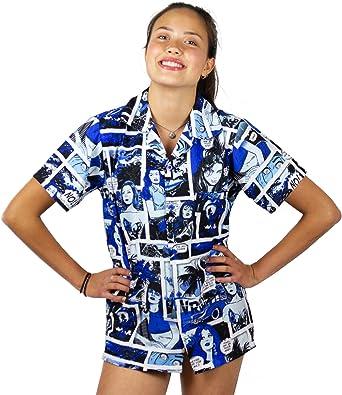King Kameha Original Camisa Hawaiana | Mujeres |XS - 6XL | Manga Corta | Bolsillo Delantero | Estampado Hawaiano | Cómic: Amazon.es: Ropa y accesorios