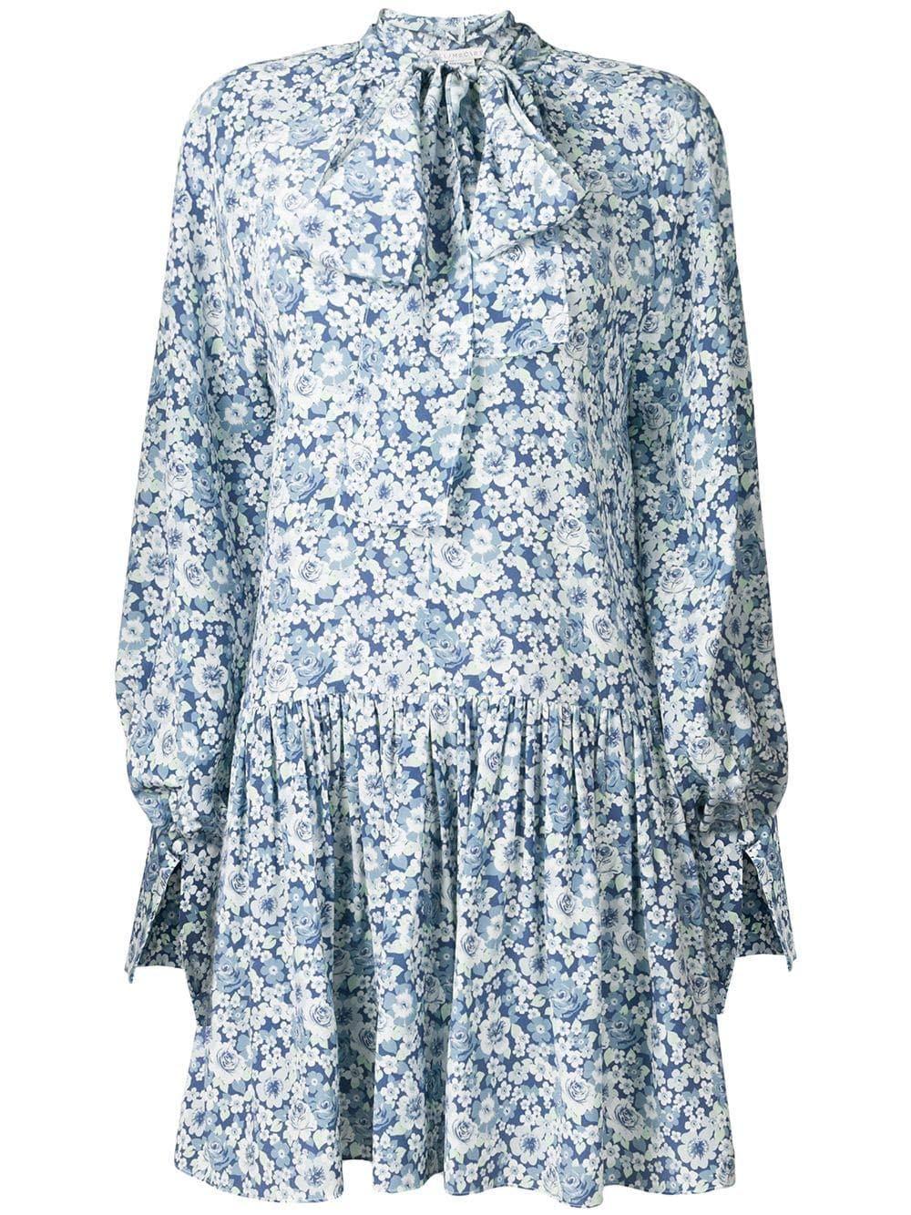 Stella Mccartney Women's 568646SMA928487 Light bluee Silk Dress