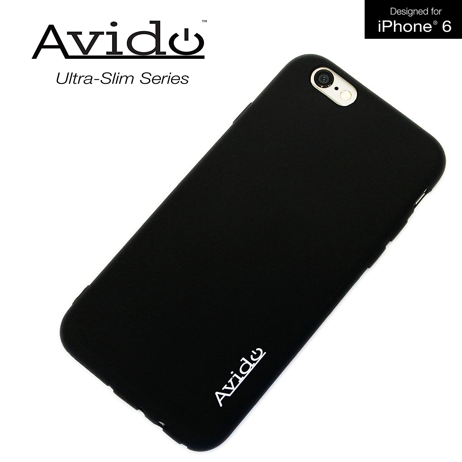 0a418fe3783 Avido iPhone 6 6s Case Ultra Slim Series Premium Phone Case with Anti-Dust  Cover Protection (All Ports Protected) for Apple (4.7-Inch) 1.2mm TPU -  Smooth ...