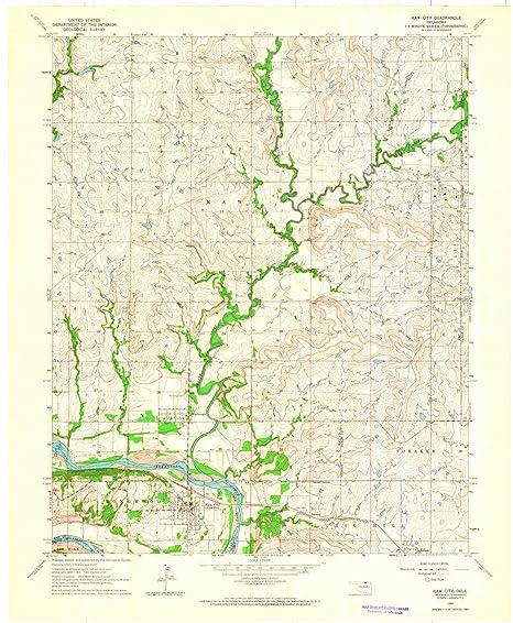 Amazon.com : YellowMaps Kaw City OK topo map, 1:24000 Scale ...