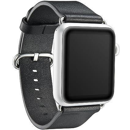 Amazon.com: Kavaj Genuine piel Reloj Banda de