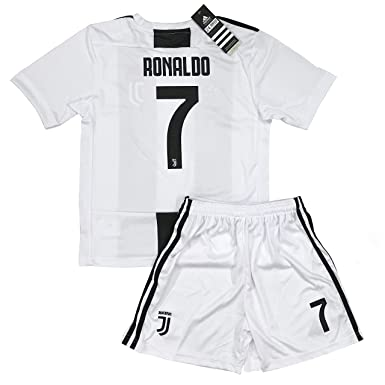 fc49e969d LiveSport New 2018-2019 Ronaldo #7 Juventus Home Jersey and Shorts for Kids  &