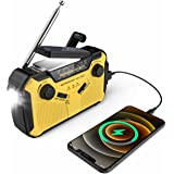 NOSSER Emergency Crank Radio, 2500mAh-Solar Weather Hand Crank Radio Portable AM/FM/NOAA Weather Alert Portable Radio with SO