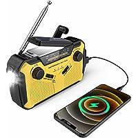 $46 » Emergency Solar Hand Crank Portable Radio, NOSSER NOAA Weather Radio 5 Ways Powered Sources Emergency with AM/FM, LED…