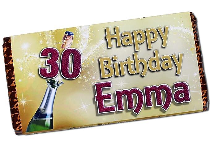 Personalised Teddy Happy Birthday 114g Galaxy Chocolate Bar Wrapper Gift N52