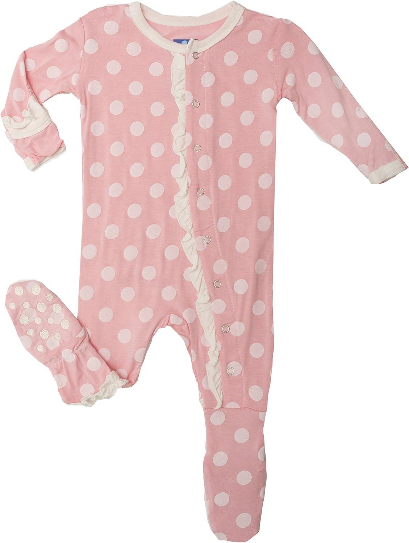 Kic Kee Pants Baby Girls Kickee Pants Newborn Print Ruffle Footie