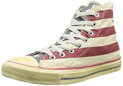 huge selection of f1128 09d68 Converse Stars and Bars Vintage, Baskets mode homme, Mehrfarbig -  Multicolore (Blanc