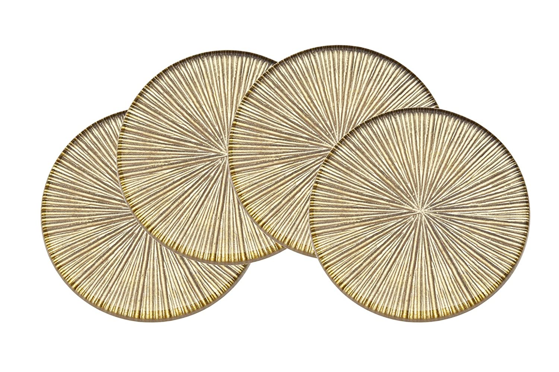 Godinger Silver Art Dax Gold Coasters Set of 4 COMINHKPR125710