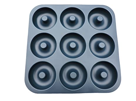 large grade nonstick silicone donut pan makes 9 full size donuts