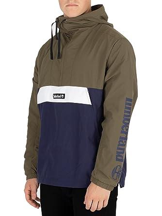 7a8387fc0b Timberland Men's Windbreaker Hooded Pullover Black Iris/Grape Leaf Small