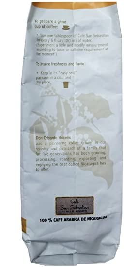 Amazon.com : Cafe San Sebastian - Nicaraguas Coffee - Rainforest Certified (Light Rost-Whole Bean) (2 Pack) : Grocery & Gourmet Food