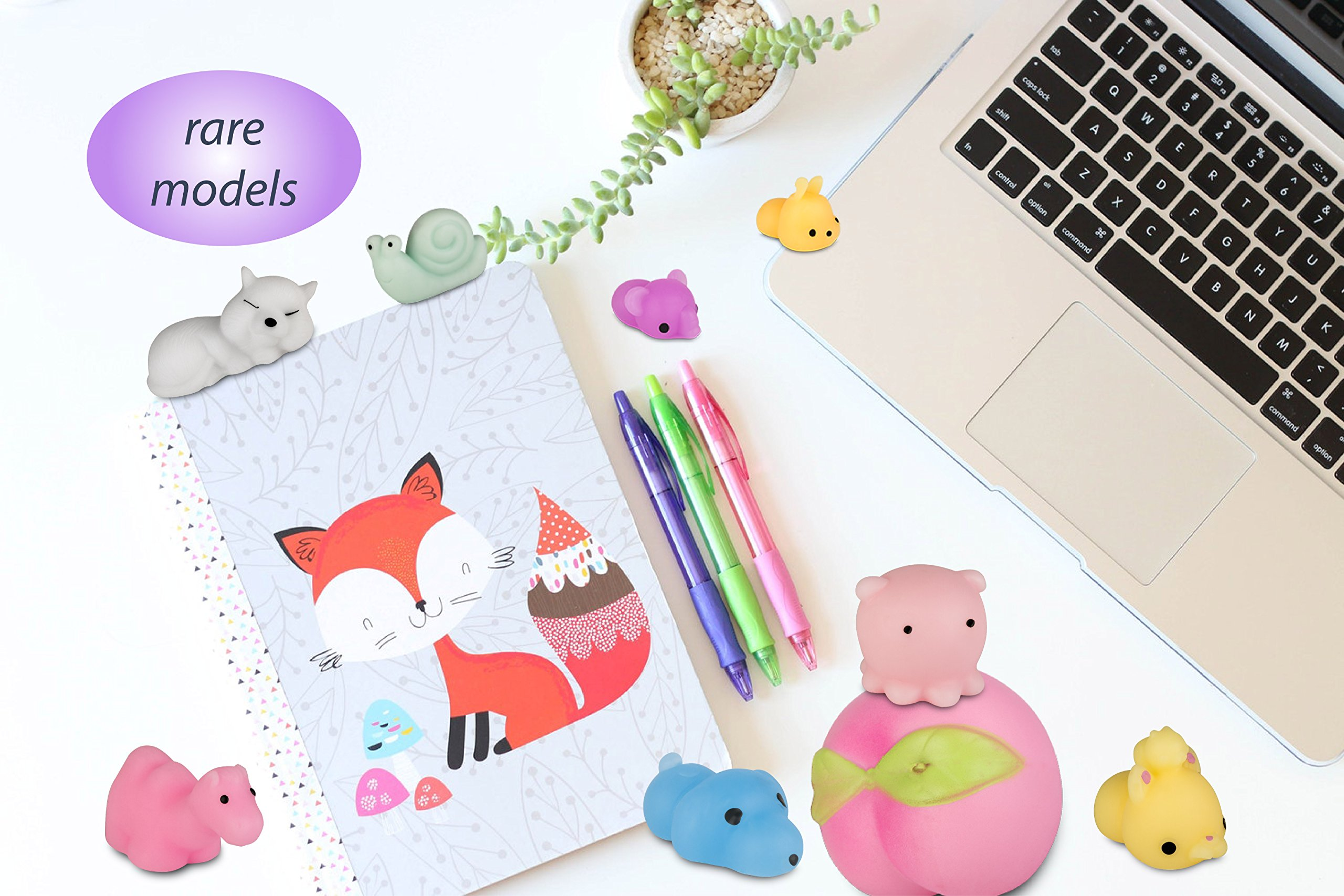 WUAH Mochi Squishy Toys 25 pcs Set: Soft And Squishy For Stress Relief, Kawaii Designs For Kids And Adults By Store