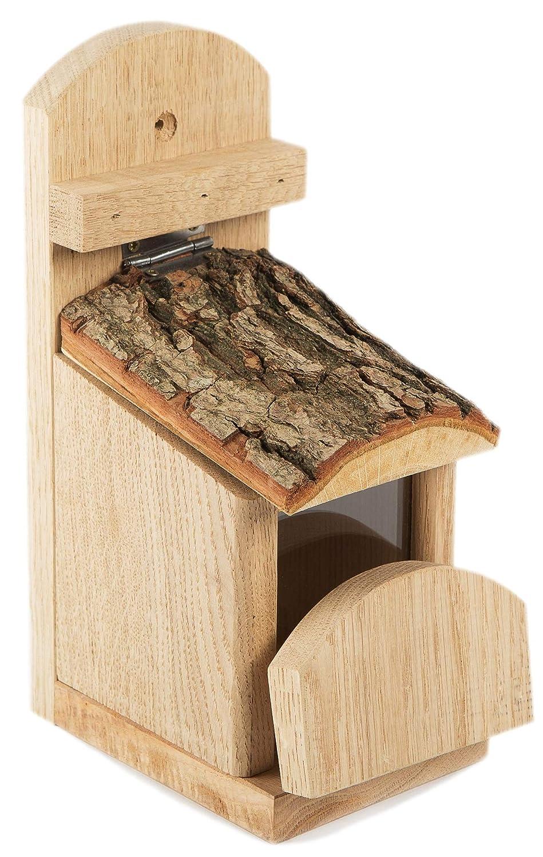 NEST TO NEST Squirrel Feeding Station oak and bark Premium Quality Squirrel buffet