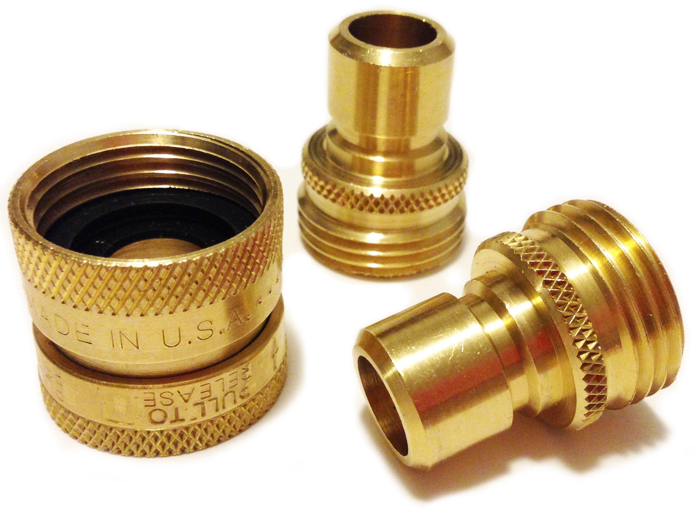 World's Best Garden Hose Quick Connect by World's Best Brass Hose Nozzle