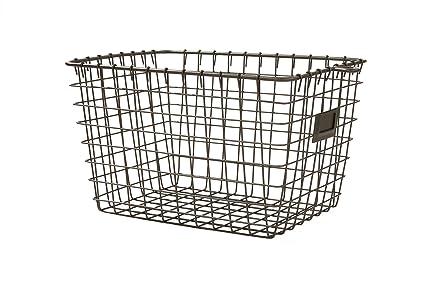 Genial Spectrum Diversified Wire Storage Basket, Small, Industrial Gray