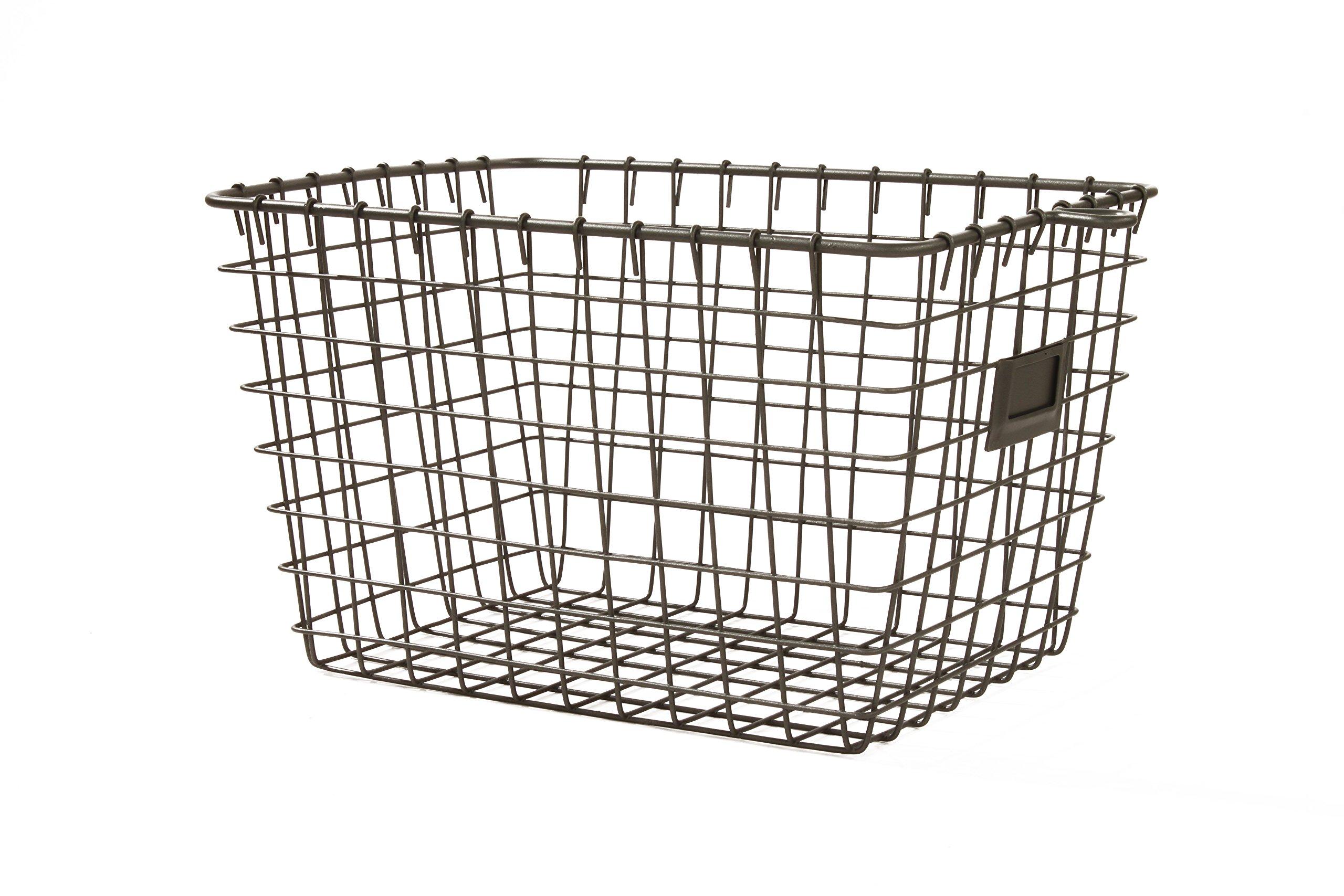 Spectrum Diversified Wire Storage Basket, Small, Industrial Gray