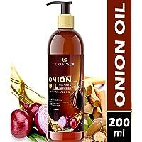 Grandeur Onion Hair Oil For Hair Fall Treatment And Hair Growth With Red Onion Extract, Argan Oil, Bhringraj, Hibiscus Oil, Jojoba Oil, Vitamin E 200ml