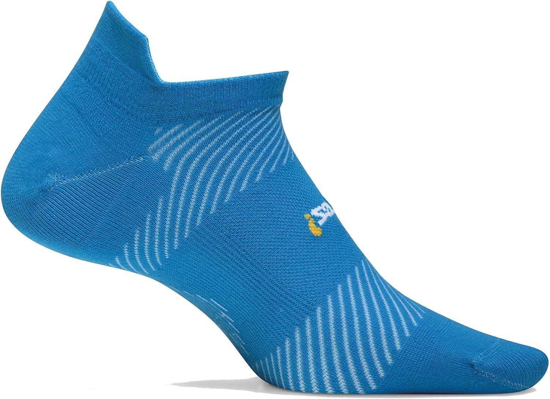 Feetures High Performance Light Cushion No Show Tab Brilliant Blue
