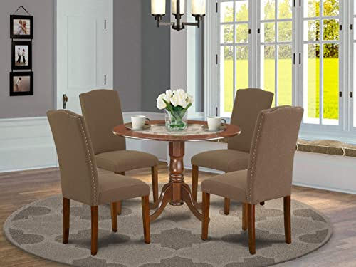 East West Furniture Dining Room Set 5 Pieces