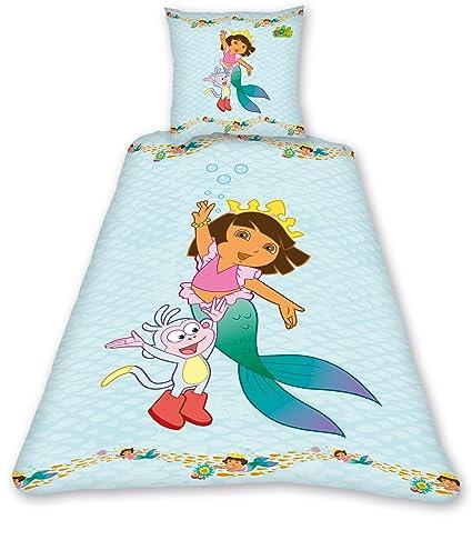 dora linge de lit Dora l'Exploratrice Dora Mermaid DBO Parure Linge de Lit 200 x 140  dora linge de lit