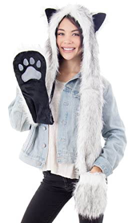 9999c26112c Simplicity 3 in 1 Lovely Animal Beanie Cosplay Hats Scarf with Mittens