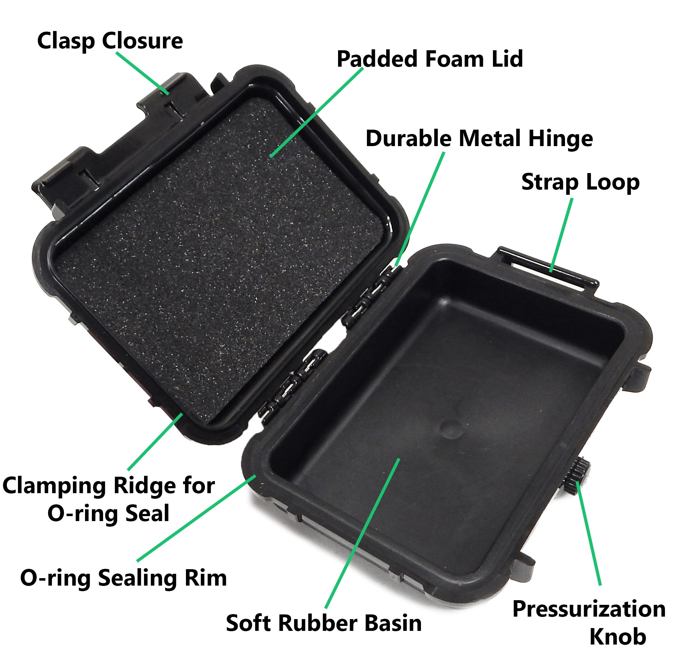 CASEMATIX Rugged Portable Printer Case Compatible with Polaroid Mint Printer and Polaroid Mint Pocket Printer Paper - Includes Waterproof CASE ONLY by CASEMATIX (Image #4)