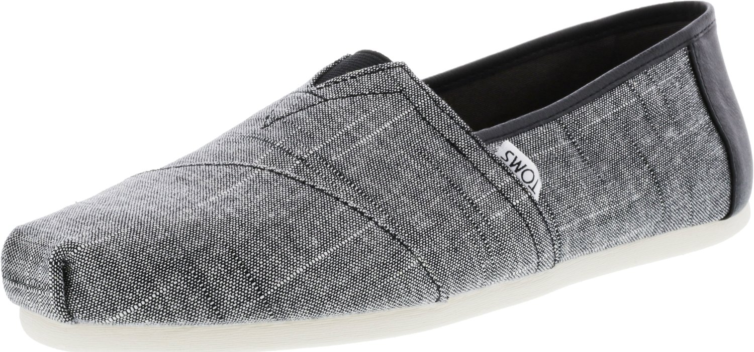 TOMS Men's Seasonal Classics Black Textured Chambray/Trim 10.5 D US