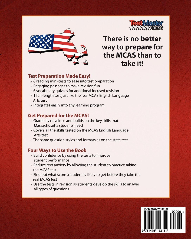 MASSACHUSETTS TEST PREP Practice Test Book MCAS English Language ...