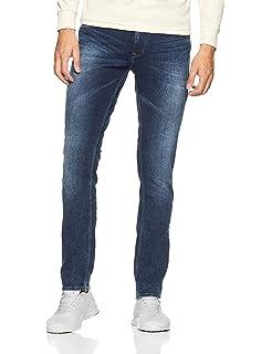 cc45b42b9c06 Spykar Men's (Rover) Slim Fit Narrow Leg Jeans: Amazon.in: Clothing ...